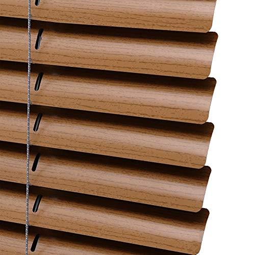 """JLXJ Persianas Venecianas Madera Textura Aluminio Veneciano Persianas Marrón Apagón Día y Noche Al Aire Libre Baño Puertas Sombrilla, 60cm/80cm/100cm/120cm de Ancho (Size : 80×170cm(31.4""""×62.9))"""