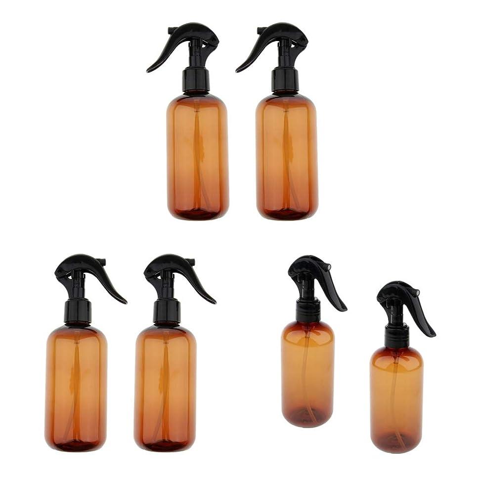 CUTICATE 空ボトル スプレーボトル 遮光瓶 霧吹き 押し式詰替用ボトル 詰替え容器 250ml 6個入り
