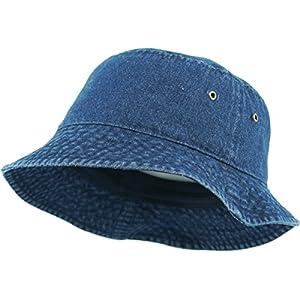 Unisex Washed Cotton Bucket Hat Summer Outdoor Cap