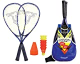 Talbot-Torro Speed-Badminton Set Speed 6000, tolles Komplettset, 2 kraftvolle Alu-Rackets 58,5cm, 6 windstabile Bälle, Cones zur Spielfeldmarkierung, im trendigen Rucksack, 490106
