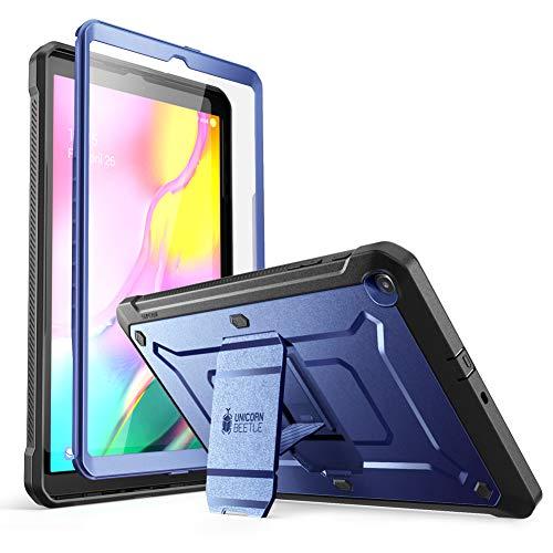 SUPCASE Unicorn Beetle Pro Series Hulle fur Galaxy Tab A 101 2019 Release robuste Ganzkorper Schutzhulle mit integriertem Displayschutz schieferblau