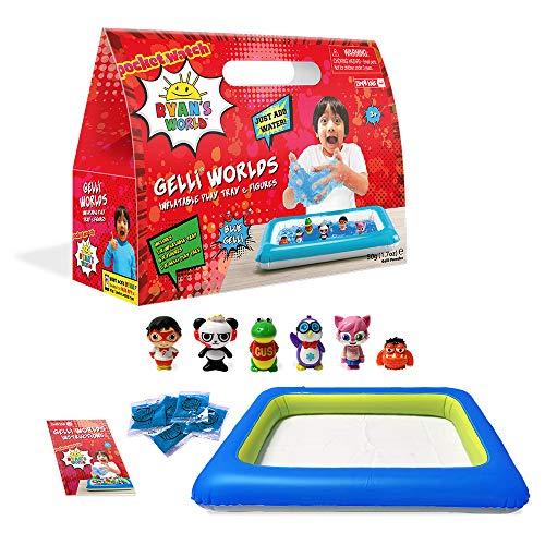 Ryan's World Gelli Worlds, enthält Ryan's World Spielfiguren, 5 Verwendungspackungen, sensorisches und fantasievolles Spielset für Kinder