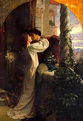 Romeu e Julieta (1884) de Frank Dicksee - 60x87 - Tela Canvas Para Quadro