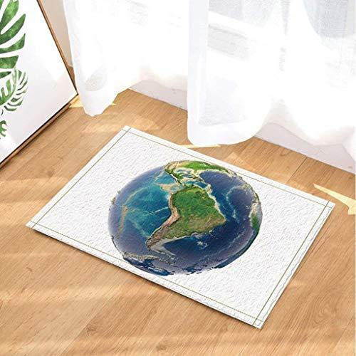 JTLiChunLins Vissen decoratieve haak visaas houten visser gift anti-slip deurmat badkamer mat