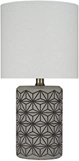Rivet Cement-Textured Table Lamp, Bulb Included, 16.5
