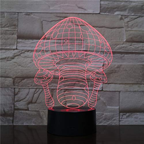Wfmhra Forma de Seta Lámpara 3D LED Lámpara USB Luz táctil RGB Colores Cambio de Mesa Luz Nocturna Decoración de cabecera Lámpara LED Moda