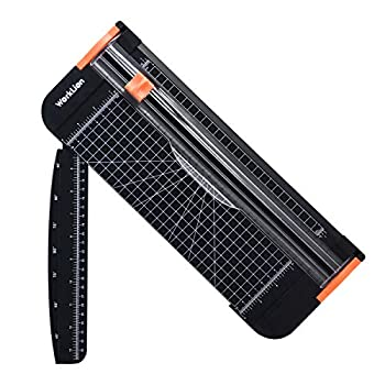 WORKLION Paper Cutter - A4 Paper Craft Cutter with Security Blade for Cut Gift Card Coupon Label Cardstock Photo 12 inch Black Office Paper Trimmer