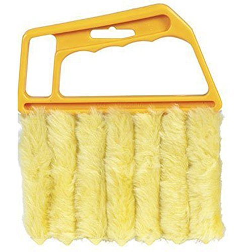 Kentop Blinds Brush Cleaning Brush Window Air Conditioning Dustcloth Dirt Blind Cleaner Duster Brush with 7 Microfibre Slats