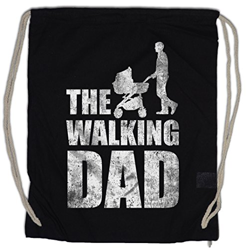 THE WALKING DAD Bolsa de cuerdas con Cordón Gimnasio Vatertag Father's Day Present Geschenk Dead Fun Best Dad Bester Papa Tochter Sohn Daughter Son Baby Kinderwagen Buggy Stroller Carriage
