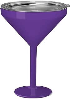 True North Insulated Martini Glass (Sport Purple)