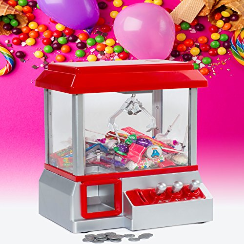 Traditional Fairground Candy Grabber Desktop Sweet Treat Retro Arcade Joystick Sweet Machine Grab Gadget Fun Crane Claw Game Dispenser