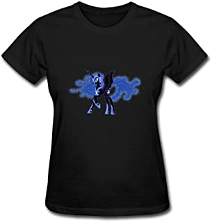 Women's My Little Pony Painted Princess Luna Nightmare Moon Short Sleeve T-Shirt