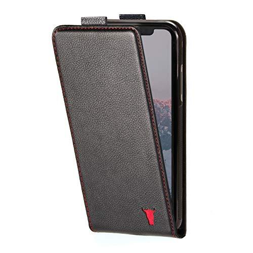 TORRO Vertikale Klapphülle Kompatibel mit Apple iPhone 11 hochwertiges Leder mit [Karten Steckfächern] [strapazierfähiger Rahmen] 6.1 Zoll Ausgabe 2019 (Schwarz)