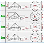 Latourreg Pyramid Round Bell Tent Canvas Yurt Tent With Zipped Groundsheet For Family Outdoor Camping 8