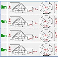Latourreg Pyramid Round Bell Tent Canvas Yurt Tent With Zipped Groundsheet For Family Outdoor Camping 12
