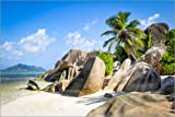 Posterlounge Cuadro de Aluminio 60 x 40 cm: Dream Beach in The Seychelles de Jan Christopher Becke
