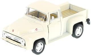 1956 Ford F-100 Pickup Truck, White - Kinsmart 5385D - 1/38 Scale Diecast Model Toy Car by Kinsmart