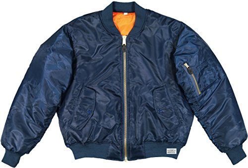 Army Universe MA-1 Air Force Military Bomber Flight Jacket Pin (Navy Blue, Size Large - Chest 41' - 45')