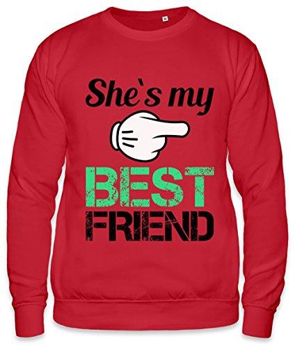 She's My Best Friend Slogan Unisex Sweatshirt Small