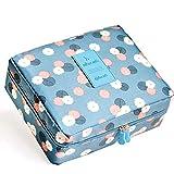 Xiton 1 PC Impermeable Neceser Bolso De CosméTicos Neceser Maquillaje Bolsas De Aseo Organizador Maleta Bolsa De Lavar Bolsas Organizadoras Maleta Neceser Viaje Para Mujer SeñOras Madre Chicas(Azul)