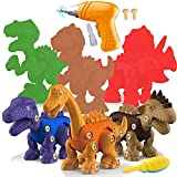 STAY GENT DesmontaDinosaurio Juguetes, 6 Piezas Dinosaurios Juguetes Grandes de Construcción con Taladro Eléctrico, Regalos Educativos para Niños y Niñas de 3 a 7 año