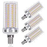 SanGlory LED E14 Maíz Blanco Cálido, 15W equivalente a 120W Incandescente Bombilla, 1720lm, 3000K E14 Tornillo Edison Pequeño, AC 220-240V, Ángulo 360°, No Regulable - 4 unidades