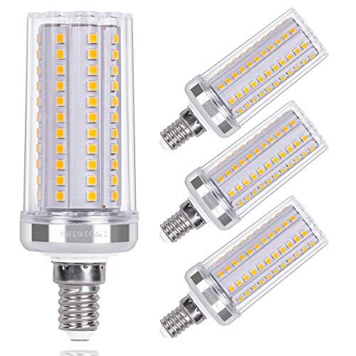 SanGlory E14 LED Maiskolben 15W LED Glühbirnen E14 Warmweiß 3000K 1720LM entspricht 120W Glühlampe Nicht Dimmbar Energiesparlampe E14 LED Mais Birne Leuchtmittel E14 AC220-240V, 4er Pack