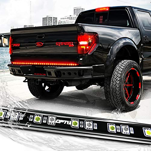 OPT7 60' Redline LED Tailgate Light Bar - TriCore LED - Weatherproof Rigid Aluminum No-Drill Install - Full Featured Reverse Running Brake Turn Signal