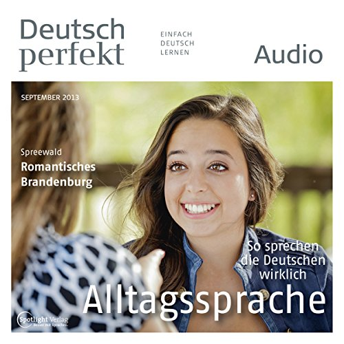 Deutsch perfekt Audio - Alltagssprache. 9/2013 audiobook cover art