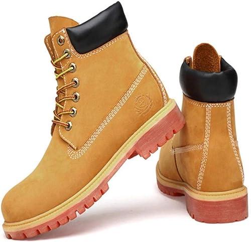 FMWLST botas botas Impermeables De PU para Hombre, botas De Invierno De Gamuza con botas De Nieve, zapatos hombres.