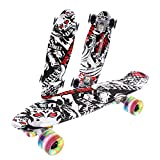 Caroma Complete Skateboards for Kids 22 x 6 Inch Mini Cruiser Skateboards for Beginners Teens Adults Penny Board with ABEC-7 High Speed Bearings Standard Skateboard with PU Wheels