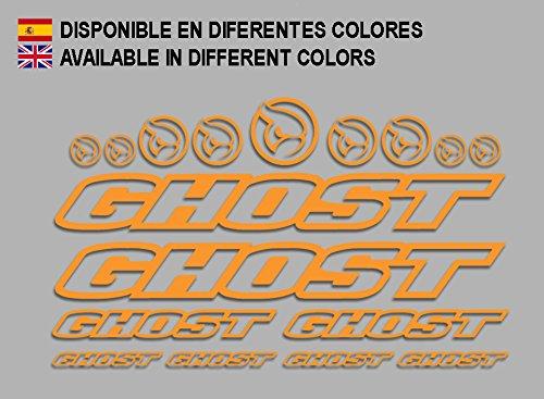 Ecoshirt CP-5IKY-S1A5 Pegatinas Ghost F188 Vinilo Adesivi Decal Aufkleber Клей MTB Stickers Bike, Naranja