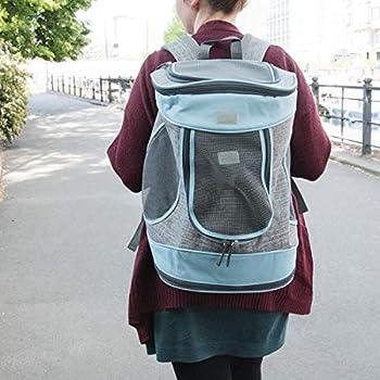 Navaris Sac de Transport Chat Chien - Panier 33 x 28 x 43 cm en Polyester Air Mesh Respirant et Pliable - pour Chats et Petits Chiens de Max 15 kg