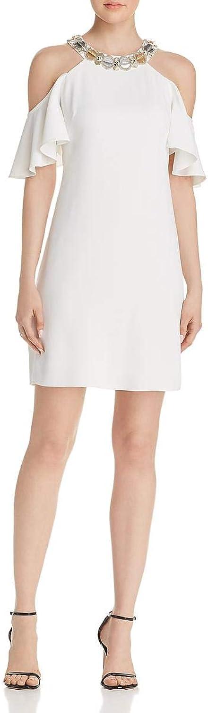 Aidan Mattox Womens Cold Shoulder Mini Party Dress