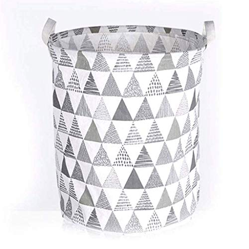 QTCD Canvas Fabric Lightweight Storage Basket/Toy Organizer/Dirty Clothes Collapsible Waterproof for College Dorms, Kids Bedroom,Bathroom,Laundry Hamper fanghua