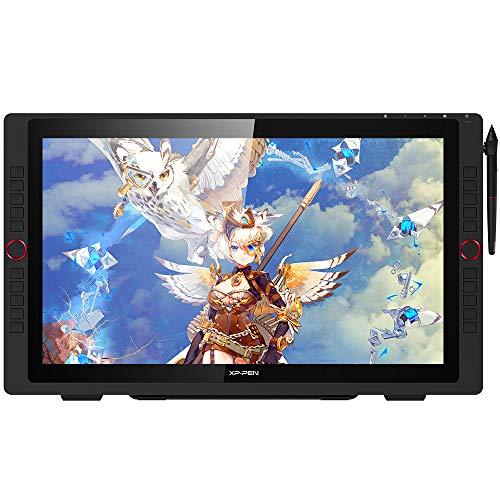 XP-PEN Artist 22R Pro Grafiktablett mit Full-HD-Display 1.920x1.080 20 Schnelltasten 2 Roträder Neigung 8192 Druckstufen mit Standfuß, zum Illustrieren & Zeichnen