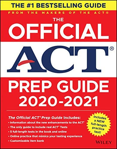 The Official ACT Prep Guide 2020 2021 Book 5 Practice Tests Bonus Online Content product image