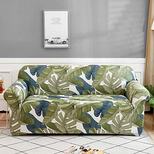 WXQY Funda de sofá de Flores Sala de Estar elástica con Todo Incluido Funda de sofá Chaise Longue sección Moderna Funda de sofá de Esquina Funda de Silla A24 3 plazas
