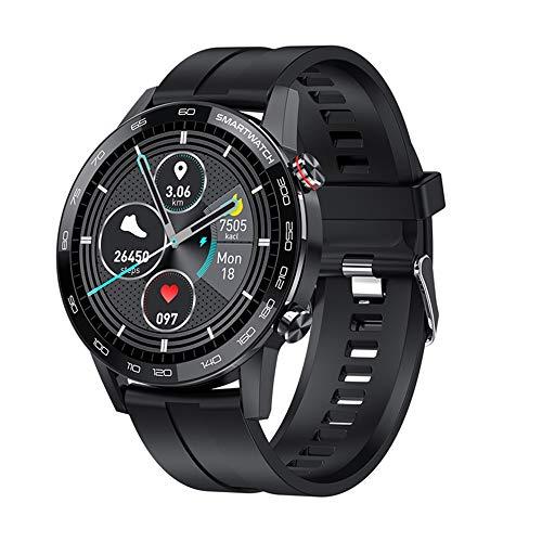 Nonshy Reloj Inteligente Hombre Smartwatch Deportivo Rastreador Actividad Reloj Inteligente Pantalla Táctil Completa Entrenamiento Respiratorio IP68 Impermeable Compatible con Android iOS (Negro)