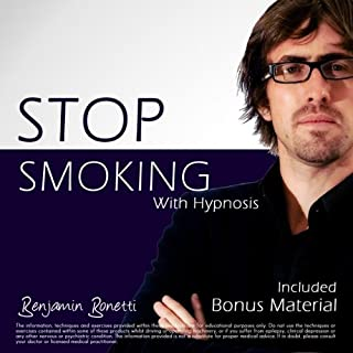 Stop Smoking NOW with Hypnosis     Plus Bestselling Relaxation Audio              By:                                                                                                                                 Benjamin P. Bonetti                               Narrated by:                                                                                                                                 Benjamin P. Bonetti                      Length: 1 hr and 7 mins     5 ratings     Overall 3.0