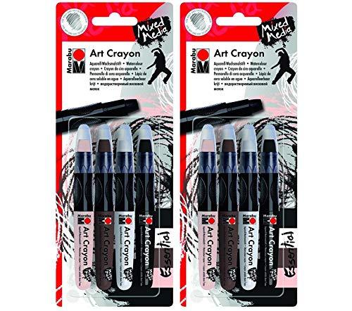 Marabu Essential Mixed Media Art Crayon Set (Тwo Рack)