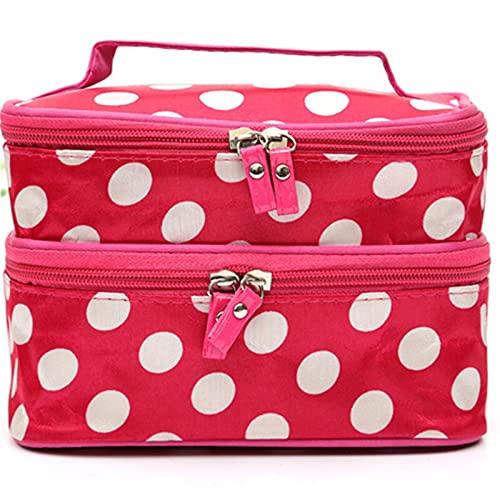 SRXSMGS Bolsa de cosméticos para mujer, bolsa de almacenamiento de cosméticos de gran capacidad, portátil, bolsa de aseo de viaje, impermeable, con cremallera (color blanco, tamaño: 20 x 11 x 13 cm)