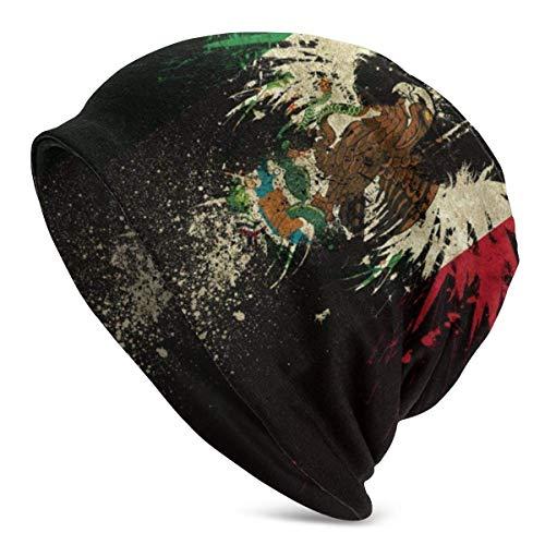 Bandera de México Sombrero de Punto Transpirable Unisex Confort Primavera Otoño e Invierno D Gorra de Calavera de Hip-Hop