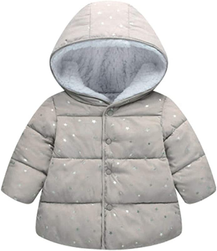 Children Winter Windproof Warm Jacket Fashion Star Hooded Coat For Girls