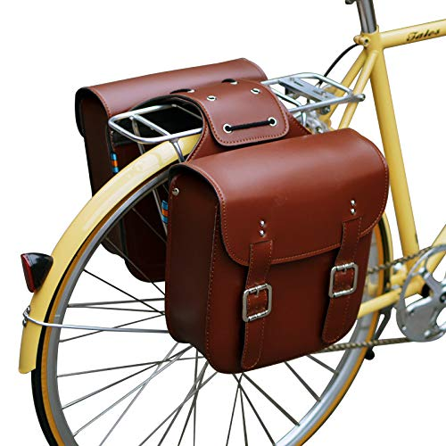 Buy Bargain SENQI Retro Bicycle Rack Bag Leather Rear Rack Bike Bags Robust Rear Seatpost Bag for Re...