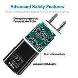 Netzteil Ultra Slim USB Ladegerät, 3er-Pack Klein Kompakt Ladeadapter für Handy, Tablet, eBook Reader, Smartphone, Mp3, Bluetooth Geräte 1000 mA, 100-240V, Schwarz