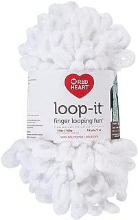 RED HEART E884.0115 Loop-It Yarn, Snow Way