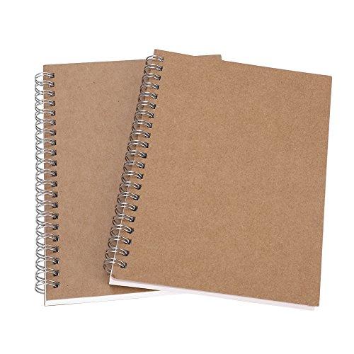 Planificador diario Cuadrícula Cuadernos Cuadernos de espiral Cubierta rígida de papel Kraft Bloc de notas diario Cuaderno Bloc de notas Papel forrado de viaje Cuaderno de reunión blanco Oficina