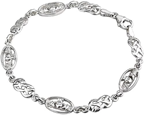 Four Claddagh Bracelet Sterling Silver Irish Made