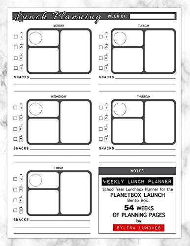 Weekly Lunch Planner: School Year Lunchbox Planner for the PlanetBox Launch Bento Box: 54 Weeks of Planning Pages (Bento Box Lunch Ideas, Band 1)